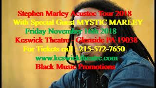 Stephen Marley at Keswick Theatre Glenside PA Friday Nov. 16th 2018