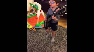 Acdc - Rock the blues away- 4 years old baby