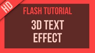 Flash Tutorial: 3D Effect on Text