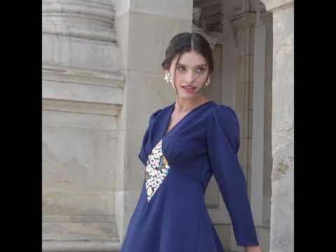 Rochie din Stofa Bleumarin Medeea