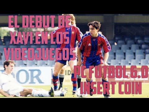 El debut de Xavi en los videojuegos - PC Fútbol 6.0