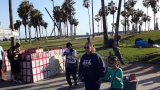Drake, Violin, Venice Beach, Street performer