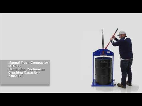 Manual Trash Compactor MTC-55 & MTC-55-RB
