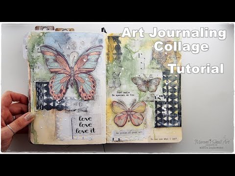Art Journaling Chit Chat & Collage Tutorial ♡ Maremi's Small Art ♡