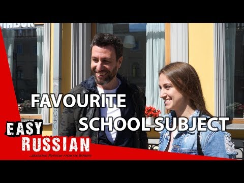Which school subject was your favourite? | Easy Russian 52 photo