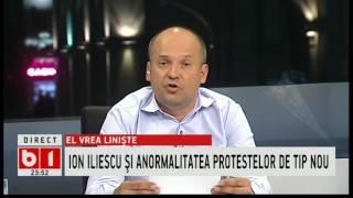 RADU BANCIU: ION ILIESCU VREA LINISTE, NU PROTESTE
