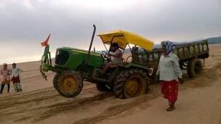 tractor driven by mechanical student