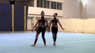 Nikita e Adriana (Calheta) - Par Fem. N3 - Camp. Regional Acrobática 2016 - Desporto Escolar