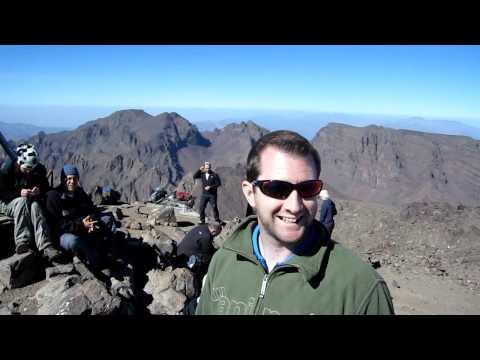 Mt Toubkal summit panorama