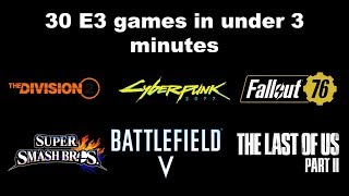 30 E3 2018 games described in 1 sentence