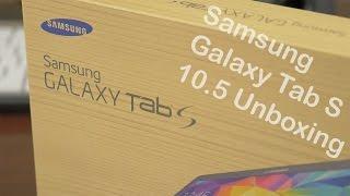 فتح صندوق ونظره اولى على جهاز Samsung Galaxy Tab s 10.5
