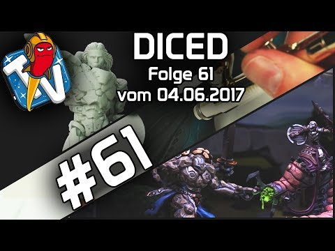 DICED - Die Tabletopshow auf Rocketbeans TV # 61 | Runewars | Infinity | Airbrush | DICED