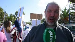 Sit-in à Casablanca des infirmiers et techniciens de santé du CHU Ibn Rochd