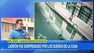 Empujan por la ventana a ladrón que fue sorprendido robando una casa en Bogotá