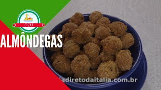 Como fazer almôndegas  - Receita italiana - Culinaria direto da Italia