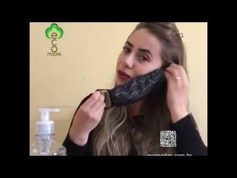 Máscara duplo tecido EcoModas - Referência 19