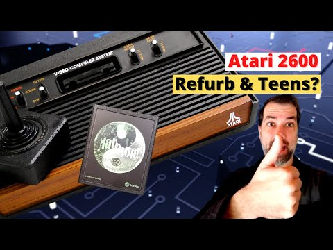 Atari 2600 First Look, Refurb and Intro to Teenage Girls