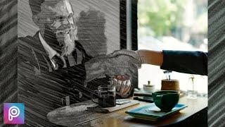 Picsart Creative Photo Manipulation Tutorial | Sketch Effect | Cartoon Yourself