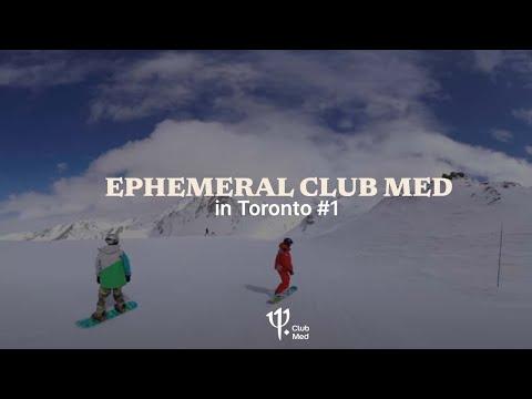 Entre neige et soleil, le Village éphémère Club Med de retour à Montréal