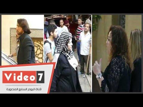 نهال عنبر وعفاف شعيب وهانى البحيرى فى عزاء عمرو سمير بمسجد الحامدية الشاذلية
