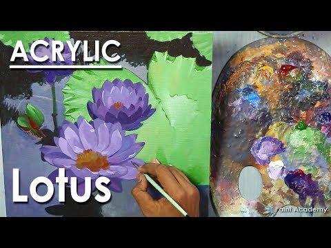 Lotus Flowers : Acrylic Painting