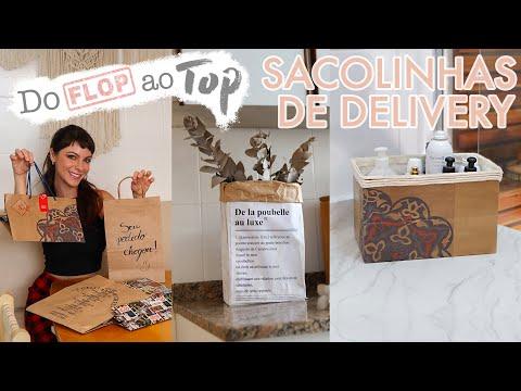 DIY Transformando Sacolinhas de Delivery em decorações TOPs - #DoFlopAoTop 01