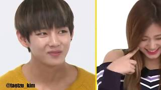 """BTS V reaction to TWICE Tzuyu """"Oppa ya"""" on Weekly Idol"""