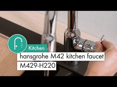 hansgrohe M42 kitchen mixer M429 H220
