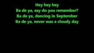 "Earth, Wind & Fire -  ""September"" -  Lyrics"