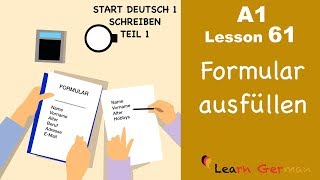 Learn German | A1 - Lesson 61 | Formular ausfüllen | How to fill in a form