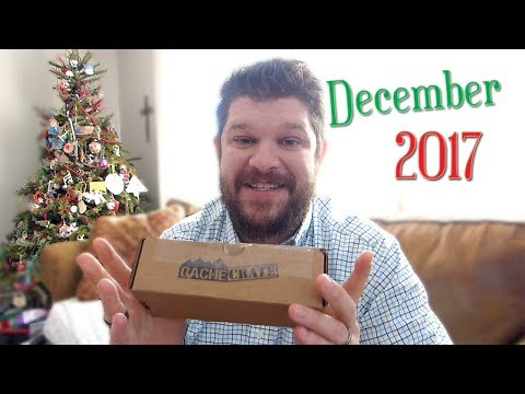 December 2017 Cache Crate GEOCACHING Unboxing!