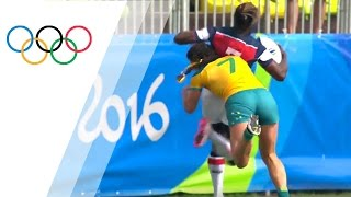 Top 10 Women's rugby tackles | Top Moments