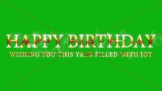 Happy birthday text effect || happy birthday template || happy birthday text green screen effects