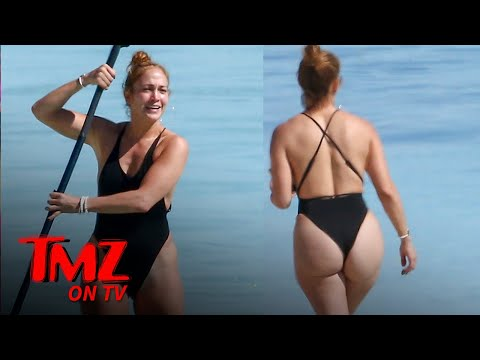 JLo Flaunts Her Figure While Paddle Boarding | TMZ TV