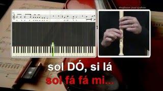Nao ha estrelas no ceu - Rui Veloso - Karaoke das notas para flauta Educacao Musical  Jose Galvao