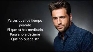 David Bustamante Total Letra