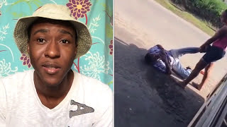 Jamaican wife caught husband cheating SHOCKING VIDEO!!! (REACTION)