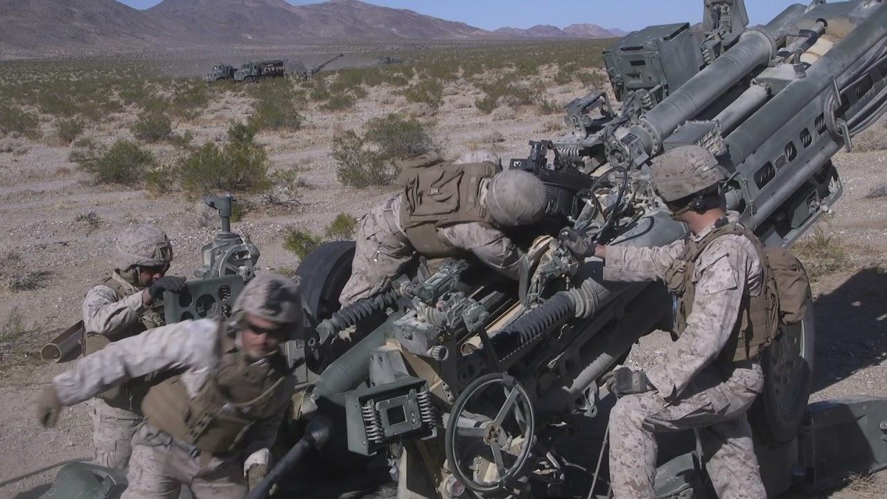 U.S. Marines • Artillery Operations • Integrated Training Exercise - California USA