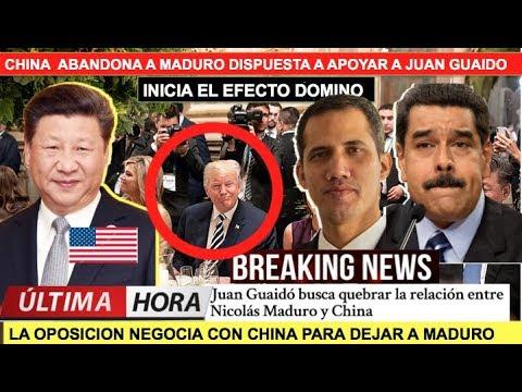 China se inclina a apoyar a Guaido y abandona a Maduro