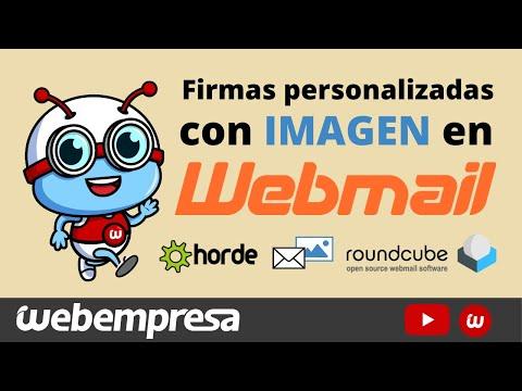 Personalizar firmas de correo 📧 PROFESIONAL con imagen en Horde y Roundcube (Webmail) - Tutorial