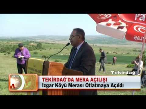 TEKİRDAĞ'DA MERA AÇILIŞI (Izgar Köyü Merası Otlatmaya Açıldı)14.05.2012.wmv