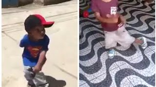 Passinho dos maloka  meninos de 4 anos dançando de más