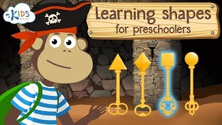 Learning shapes for kids - shapes for toddlers, preschoolers and kindergarten kids