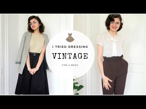 I Tried Dressing Vintage For A Week