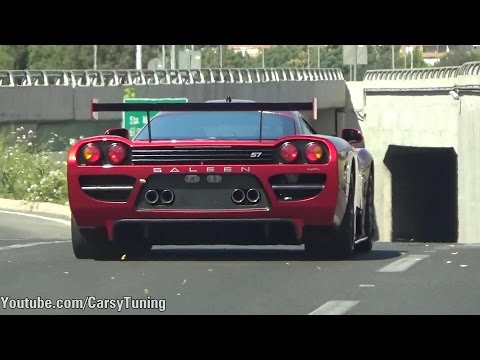 Saleen S7 Competition - Start, Revs, BRUTAL Acceleration Sound!