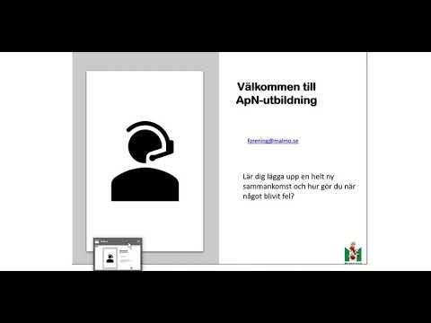 Instruktionsvideo till ApN – Lektion 2: Lägga upp och redigera sammankomster