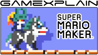 Wolf Link amiibo in Super Mario Maker Costume Tour - All Animations + Sounds