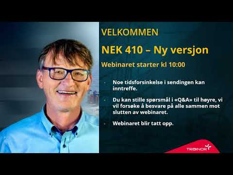 NEK 410 ny versjon - Webinar
