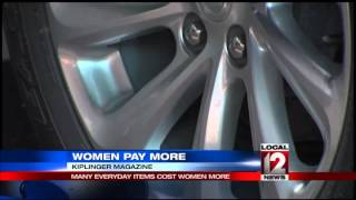 Website:  Women pay more for some items