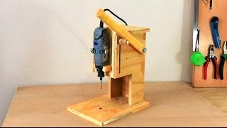 Making A Mini Drill Press   Router Table  Spindle Sander (All In One) Çok Fonksiyonlu Dremel Tezgahı